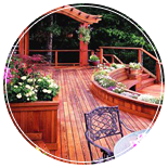 Deck Exhibit Display with Jacuzzi